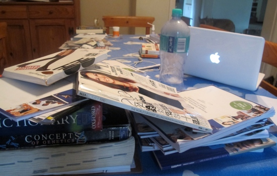 My makeshift classroom